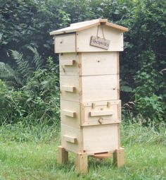 Honey bee hive, man made! The bees are diminishing and it is our duty to keep them from extinction. They are largely responsible for pollination. We also get our honey and wax from them.