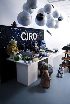Star Wars Boy Yoda Darth Vader Space Birthday Party Planning Ideas