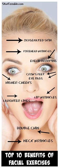 Facial exercises for wrinkles. Anti aging face exercises to get rid of jowls and tighten the face.
