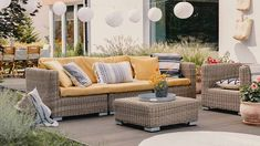 Simple tips for making sure your deck is safe, plus design advice for creating a cozy space, from Consumer Reports. Outdoor Furniture Sets, Furniture, Wooden Terrace, Costway Patio Furniture, Rattan Garden Furniture Sets, Furniture Prices, Garden Furniture Sets, Furniture Sets, Living Room Pillows