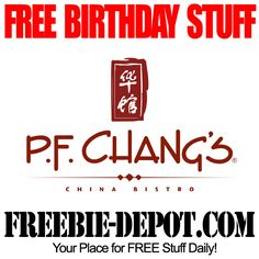 BIRTHDAY FREEBIE - P.F. Chang's China Bistro - FREE Birthday Appetizer of Dessert - FREE Birthday Reward  #birthdayfreebie