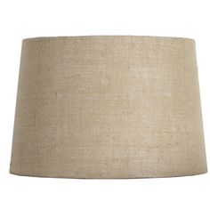 Shop allen + roth 10-in x 15-in Tan Burlap Fabric Drum Lamp Shade at Lowes.com