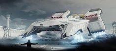 Science Fiction World : Photo Spaceship Art, Spaceship Design, Spaceship Concept, Concept Ships, Concept Art, Futuristic Technology, Futuristic Cars, Futuristic Vehicles, Science Fiction