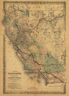 California Map Sepia