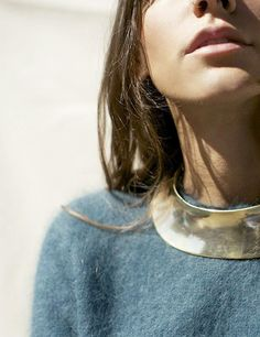 Gold collar statement necklace