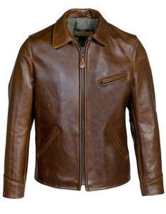 - Horween Steerhide Sunset Back Delivery Jacket - Brown Schott Jacket, Brown Leather Jacket Men, Leather Jackets, Cute Jackets, Men's Jackets, Black Jackets, Fall Jackets, Puffer Jackets, Jean Jackets