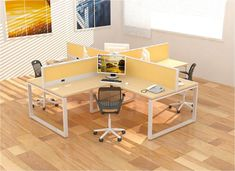 grupo abejas | renta de mobiliario Office Table, Office Workspace, Office Ceiling Design, Cafe Design, Interior Design, Office Partitions, Office Organization At Work, Office Workstations, Office Interiors