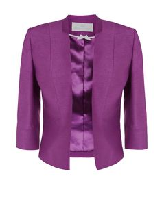 Bright Purple Edge To Edge Occasion Jacket Jacques Vert occasionwear