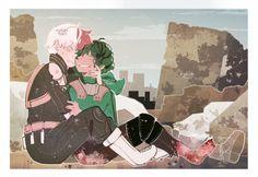 Todoroki Shouto | Midoriya Izuku | bnha | Art by: makoninah.tumblr.com
