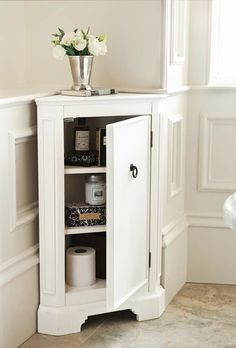 20 Corner Cabinets to Make a Clutter-Free Bathroom Space | Home Design Lover