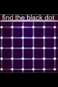 Optical illusion I have found many black dots on this but they keep moving thanks Duane! Eye Illusions, Cool Optical Illusions, Eye Tricks, Brain Tricks, Funny Mind Tricks, Word Mind Tricks, Pin It, Carla Diaz, Mind Games