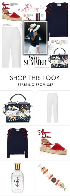 """""""Sea Excursion"""" by r-maggie ❤ liked on Polyvore featuring Dolce&Gabbana, Rochas, Gucci, Soludos, Tommy Hilfiger and Renato Cipullo"""