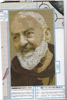 Padre Pio Cross Stitching, Cross Stitch Patterns, Diy And Crafts, Christian, Album, Inspiration, Star, Crossstitch, Needlepoint