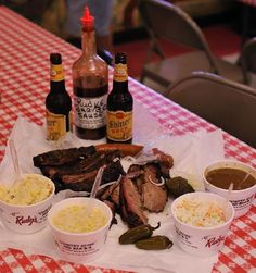 Rudy's BBQ always required!