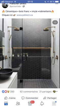 Pin By Isabelle Leclerc On Salle De Bain Bathroom Interior Design Shower Tile Bathroom Shower Tile