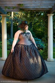 Alternative Wedding Dress Daring Beauty BallGown by KMKDesignsllc