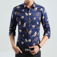 Label2000 Casual Bird Shirt