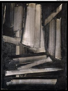 Pierre SOULAGES. Composition.  1959. Oil on canvas. Size in Cm: 81 x 60.