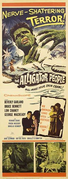 Posteritati: ALLIGATOR PEOPLE, THE 1959 U.S. 14X36