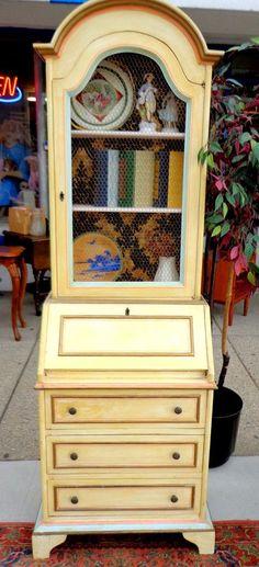 Antique White Secretary ~ painted furniture