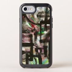 Hint of Spring-Hand Painted Abstract Brushstrokes Speck iPhone Case - spring gifts style season unique special cyo