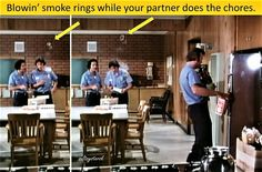Puffing smoke rings on cigars. From The Lighter-than-air Man.