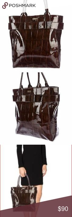 Large Kate spade tote Crocodile chestnut tote. Large. Like new no signs of wear kate spade Bags Totes