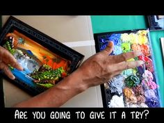 Don't underestimate the power of finger painting! Watch this talented artist from Mexico paint a beautiful tropical landscape scene in just minutes.
