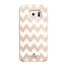kate spade new york Hybrid Hardshell Case for Samsung Galaxy - Chevron Rose Gold/Cream Samsung S6 Edge, Samsung Cases, Samsung Galaxy S6, Mobile Accessories, Cell Phone Accessories, Auto Accessories, Walpaper Black, Cute Phone Cases, Galaxies