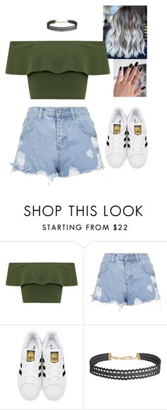 """Untitled #2802"" by valeria-reyna ❤ liked on Polyvore featuring WearAll, Topshop, adidas Originals and Humble Chic"