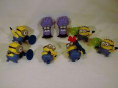 Lot of Despicable Me 2 Minions Toys Figures stuart dave jorge phil kevin C USED #Mcdonalds