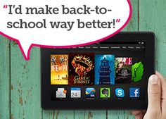 """This week we're giving away a Kindle Fire HDX 7"""" 16GB Tablet! (A $229 value.) Enter by Sunday, August 31, 2014 for a chance to win!t   Edutopia"""