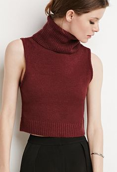 Contemporary Turtle Neck Sweater Vest | Forever 21 - 2000171929