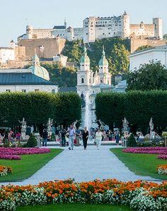 Mirabell Gardens & Salzburg Fortress ~ Salzburg, Austria