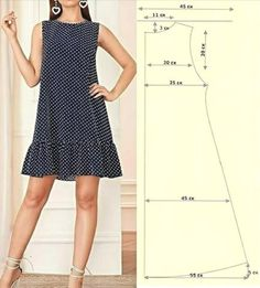 Sewing Clothes, Diy Clothes, Costura Fashion, Make Your Own Clothes, Dress Sewing Patterns, Fashion Sewing, Simple Dresses, Easy Dress, Pattern Fashion