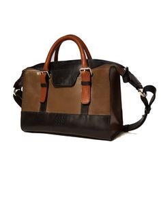 'Fern' Handmade Leather Handbag with zip and top handle – HANDS OF TYM