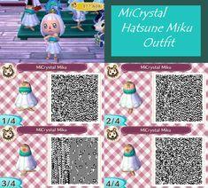 AC New Leaf QR: MiCrystal Hatsune Miku by Neodragongoddess