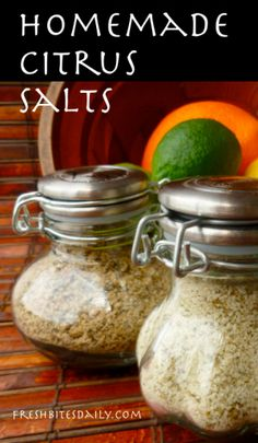 simple citrus salts may make you very popular among your friends… These simple citrus salts may make you very popular among your friends.These simple citrus salts may make you very popular among your friends. Homemade Spices, Homemade Seasonings, Spice Blends, Spice Mixes, Real Food Recipes, Cooking Recipes, No Salt Recipes, Smoker Recipes, Rib Recipes