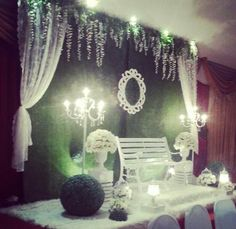 Garden theme wedding pelamin