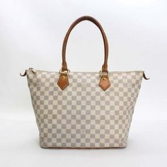 6ada2b498916 Louis Vuitton Saleya MM Damier Azur Handle bags White Canvas N51185
