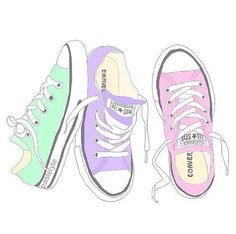 converse and overlay image Pastel Converse, Transparents Tumblr, Zapatillas All Star, Tumblr Png, Overlays Tumblr, Tumblr Stickers, Tumblr Stuff, Backrounds, Cute Drawings