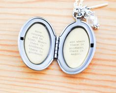 Have courage and be kind Quote Locket by busybeezchickadeez