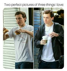 Donuts, Math, and Tom Holland! Funny Marvel Memes, Dc Memes, Marvel Jokes, Funny Memes, Parker Spiderman, Avengers, Tom Holland Imagines, Tom Holand, Tom Holland Peter Parker