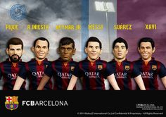 BubuzZ FC Barcelona amazing figures. All the superstars : Messi, Neymar, Suarez, Iniesta, Pique and Xavi. Now available in Spain and at BubuzZ online shop : http://j.mp/1zfl5WS