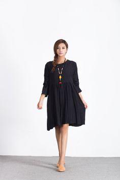 fc0c6905230e8 Oversize Loose linen cotton dress women s cotton caftan plus size clothing  linen kaftan large size d