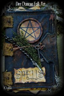 Witch Spell Book OOAK-