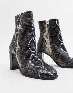dc0f9da7cb14 AllSaints Roka faux snakeskin boot Snakeskin Boots