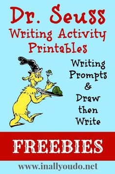 Follow for Free 'too-neat-not-to-keep' literacy tools & fun teaching stuff :) .......FREE Dr. Seuss Writing Activity Printables