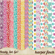 """Free Digital Scrapbook Paper Pack: """"Ready, Set, Go"""" by Harper Finch at Deviant Art ✿ Join 6,800 others. Follow the Free Digital Scrapbook board for daily freebies. Visit GrannyEnchanted.Com for thousands of digital scrapbook freebies. ✿ """"Free Digital Scrapbook Board"""" URL: https://www.pinterest.com/grannyenchanted/free-digital-scrapbook/"""