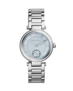 Mini Silver Color Stainless Steel Skylar Three-Hand Glitz Watch